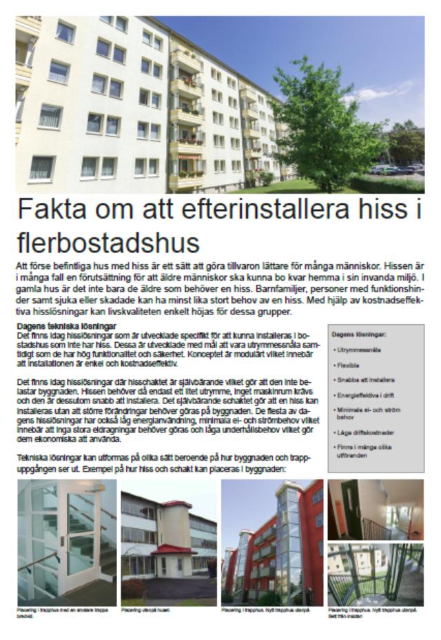 Faktablad-efterinstallation