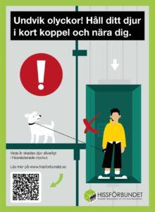 Varningsdekal för hiss